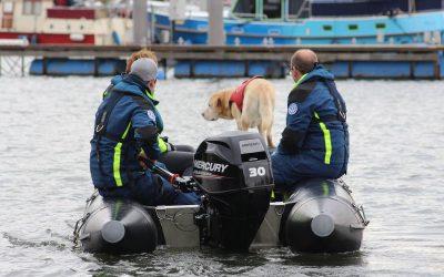 Weiteres Schlauchboot einsatzbereit