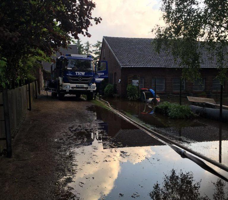Hochwassereinsatz im Raum Hamminkeln